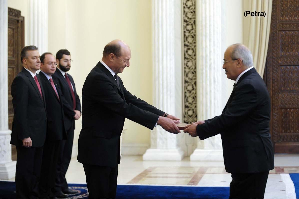 رئيس رومانيا يتقبل اعتماد أوراق السفيرقباعة