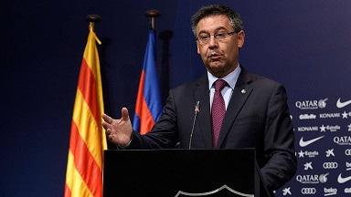 رئيس برشلونة يرد على المطالبين باستقالته