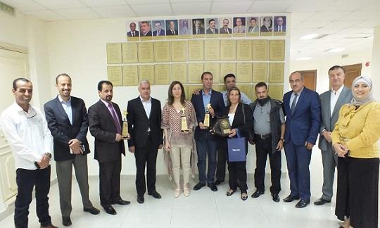 نقابة الصحفيين تسلم الجوائز للفائزين بجائزة الحسين للإبداع الصحفي