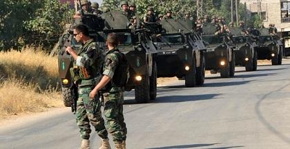 الجيش اللبناني يعلن توقيف عناصر خلية ارهابية