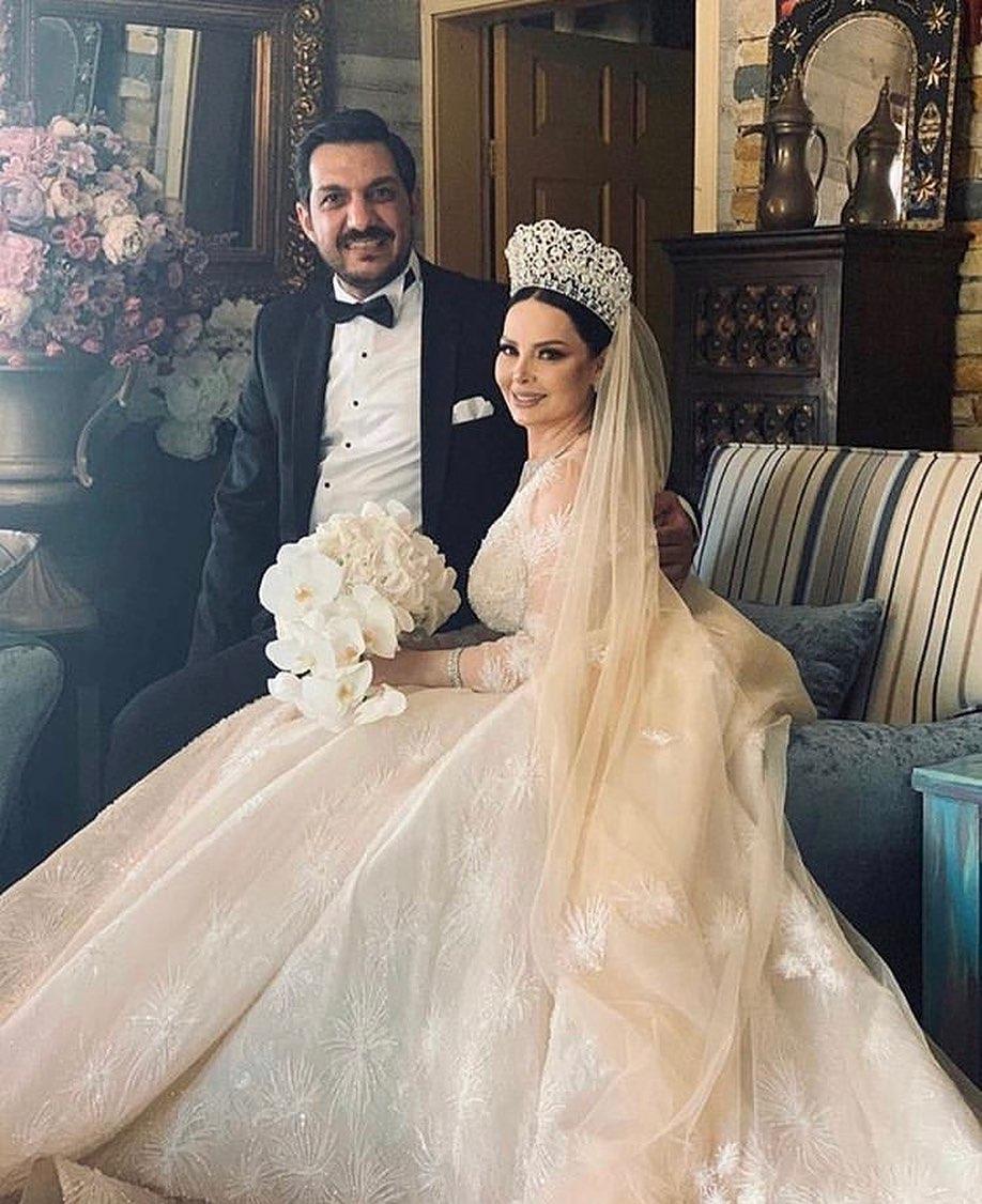 بالفيديو .. هدية شقيق ديانا كرزون لها في زفافها تثير الجدل