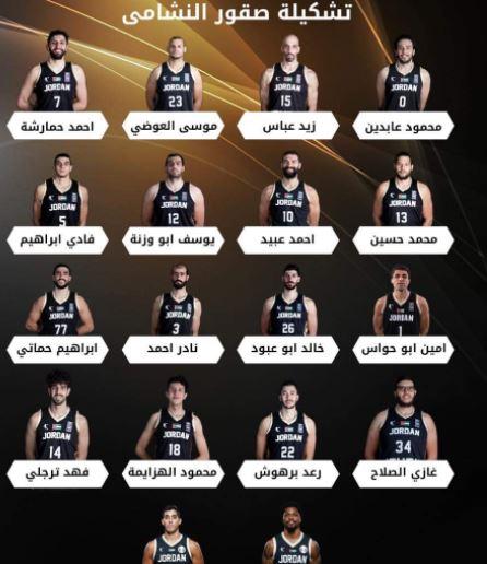منتخب السلة يعلن  تشكيلته لمنافسات كأس آسيا