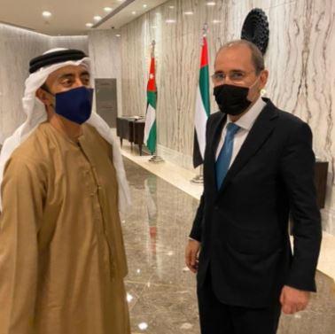 الصفدي يجري مباحثات مع وزير الخارجية الاماراتي