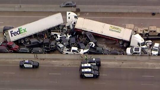 ضحايا بتصادم 100 سيارة في تكساس