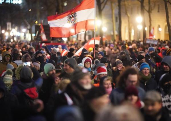 تظاهرة في النمسا
