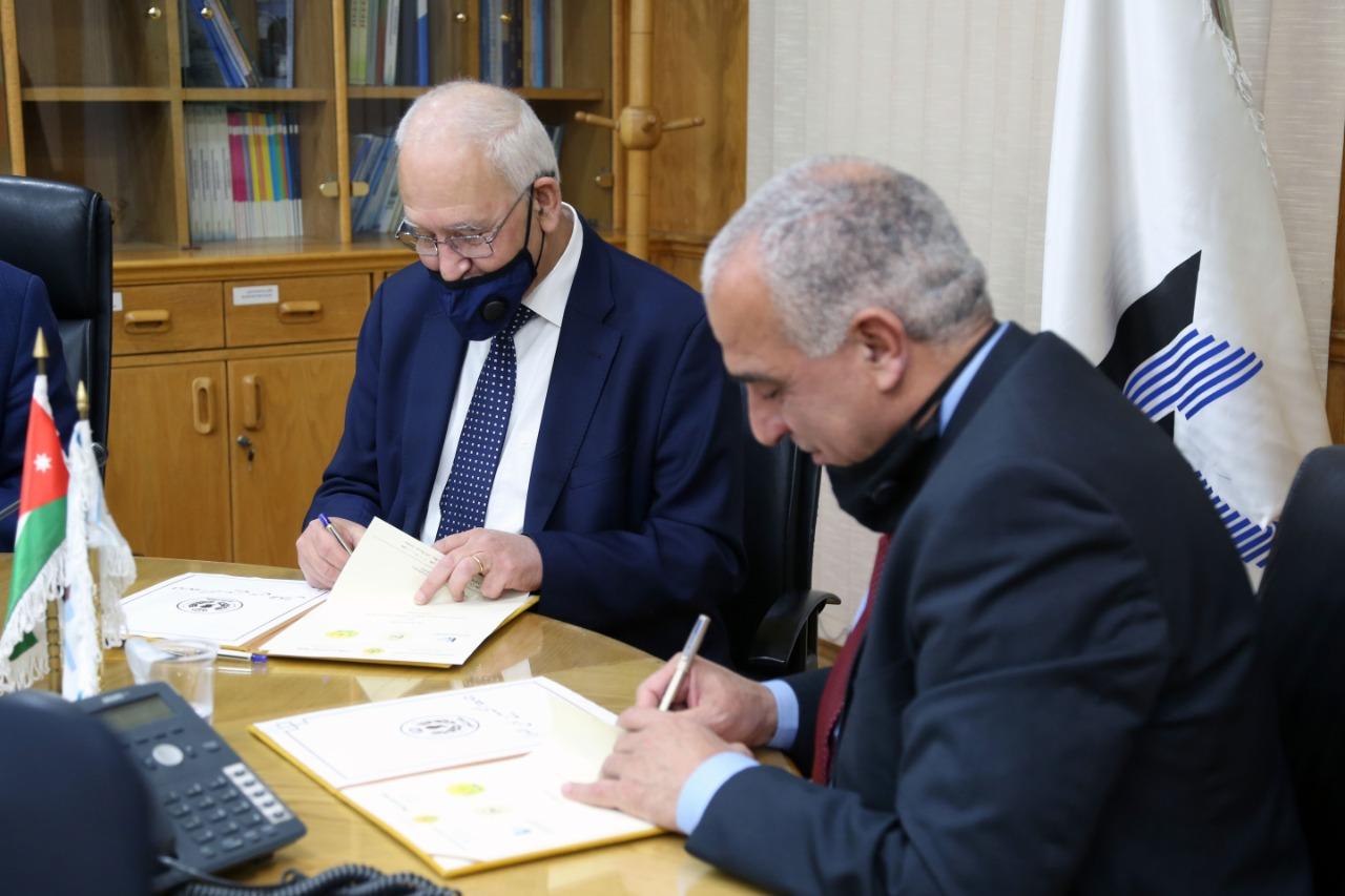 اتفاقية تعاون بين جامعة الحسين بن طلال ونقابة المهندسين