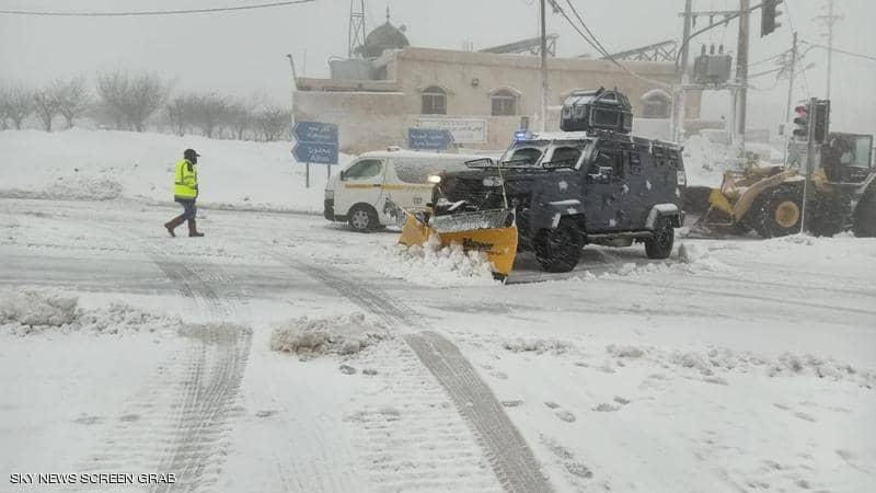 كميات الثلوج المسجلة في مناطق المملكة