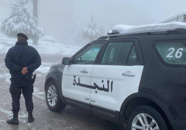 الأمن بعلن الطرق المغلقة في الأردن